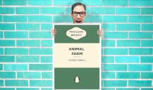Penguin Books Animals Farm George Orwell Art Pint - Wall Art Print Poster Any Size - Purple Geekery